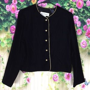 Norton McNaughton Vintage Black Velvet Blazer Sz 8